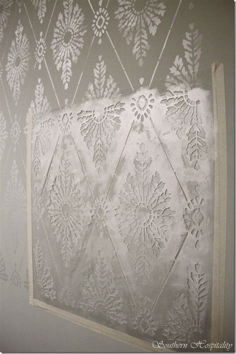 stencils for walls diamond damask stencil how to stencil a wall southern