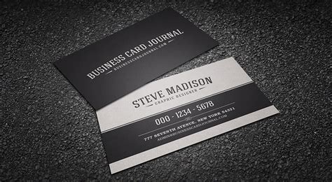 Download Business Cards Templates Classic Black White Business Card Template Download