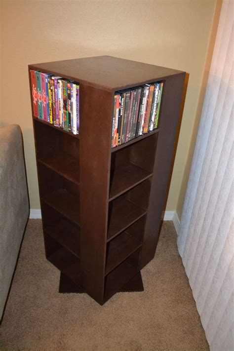 ana white   project spinning dvd rack diy projects