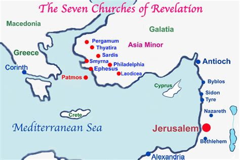 map of the seven churches