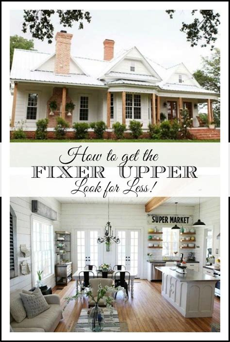 How To Get On Fixer Upper | getting the fixer upper look for less easy sources for