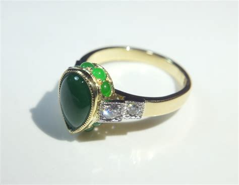 sijs pear cut jade deco ring singapore island