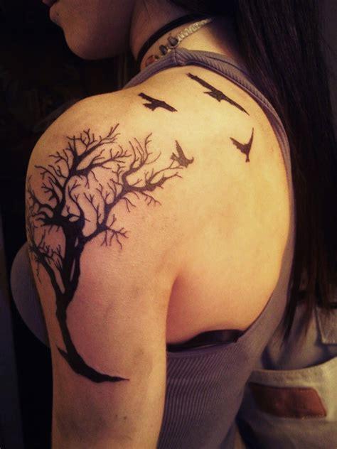 shoulder tree tattoo designs design ideas on rowan ravens and