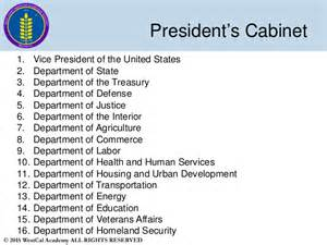 the cabinet in the government slide 7 westcal political science 1 us government 2015 2016