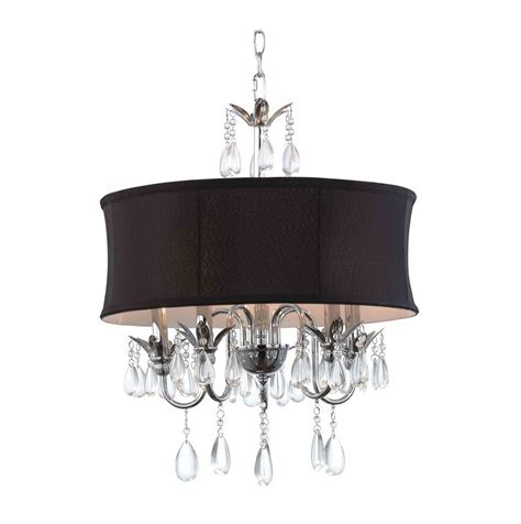 Black Drum Chandelier With Crystals Home Design Ideas Black Chandelier Crystals