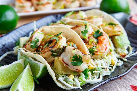 Lovely Slaw For Fish Tacos #4: Cilantro+Lime+Shrimp+Tacos+with+Roasted+Corn+Slaw+and+Roasted+Jalapeno+Crema+800+0328.jpg