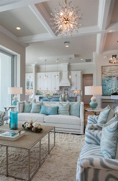 Coastal Home Interiors | florida beach house with turquoise interiors home bunch