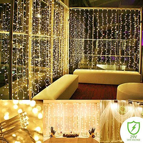 string lights curtain 300 led icicle wall lights