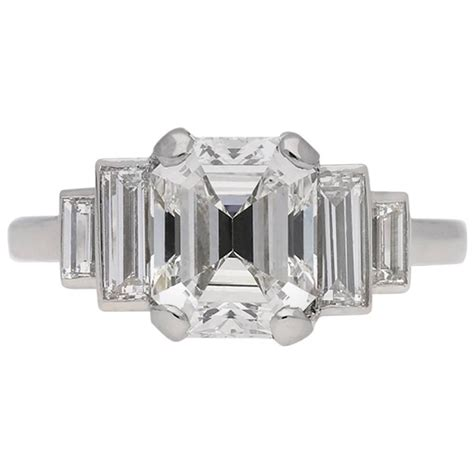 deco emerald cut ring deco emerald cut engagement ring circa 1930 for sale at 1stdibs