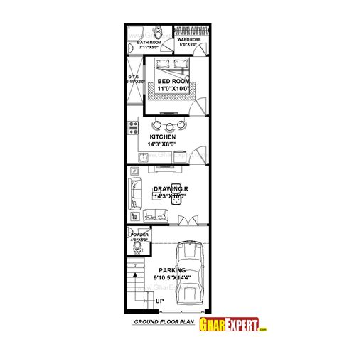 50 square yard home design house plan for 15 feet by 50 feet plot plot size 83