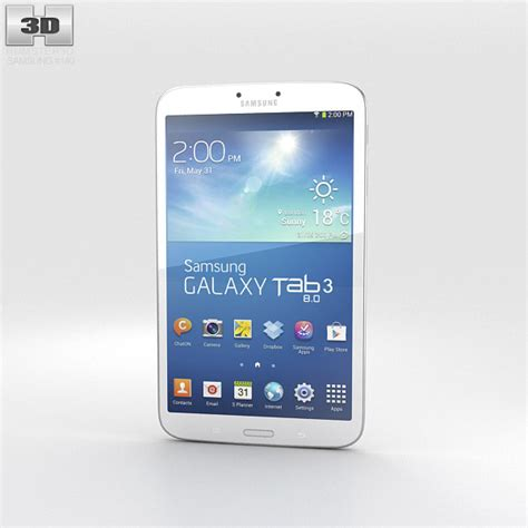 Samsung Galaxy Tab 3 8 0 White By samsung galaxy tab 3 8 inch white 3d model hum3d