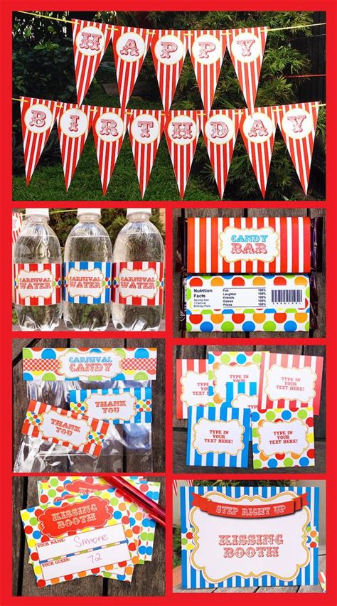 printable carnival party decorations carnival theme party invitations decorations full