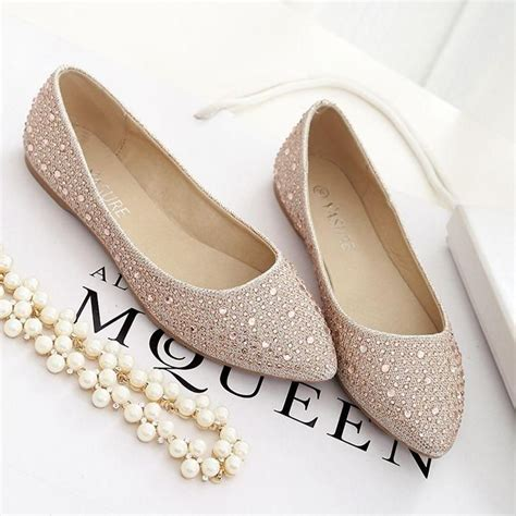 Gold Flat Bridal Shoes by Flat Wedding Shoes For You To Wear On Your Marriage Day