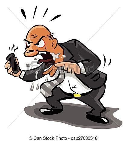 clipart uomo telefono arrabbiato vecchio uomo affari clip
