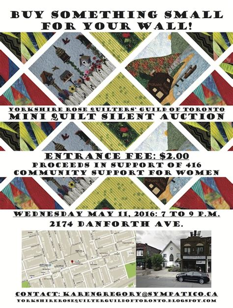 Toronto Quilt Shops mini quilt auction by quilters guild of