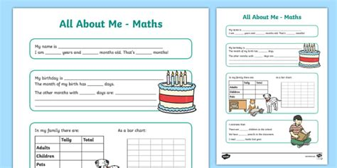 poster design worksheet all about me maths display poster worksheet year 3 4 all