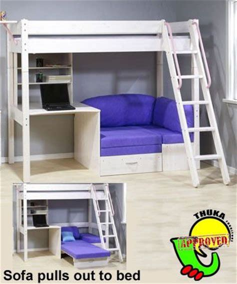 bunk bed sofa and desk bunkbed with futon and desk thuka maxi maxi white 7 loft