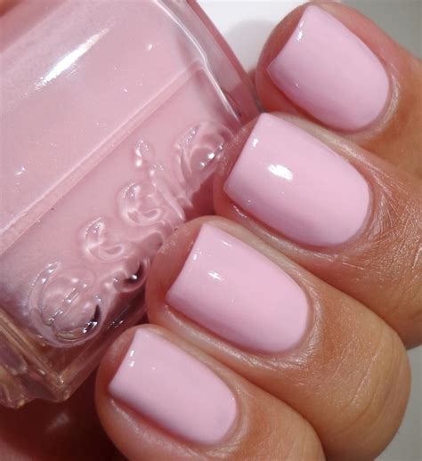 light pink nail polish essie no baggage please so pretty i just painted