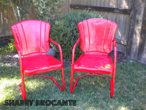 Antique Metal Patio Chairs Shabby Brocante Vintage Metal Lawn Chairs