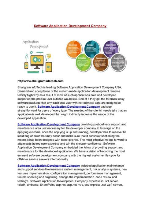 800183756 Software Application Development Company