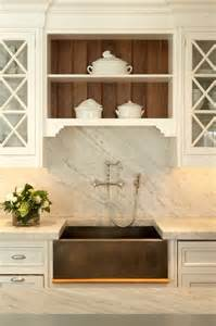 white carrera marble backsplash traditional kitchen