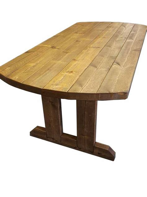 5x3 rustic wooden farmhouse dining table with matching