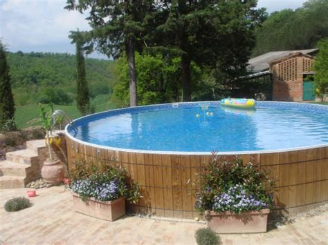 Above Ground Pool Landscaping Placing Flower Boxes In Ground Swimming Pool Designs