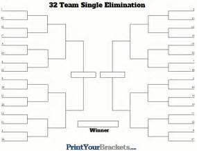 Knockout Draw Sheet Template by 32 Team Seeded Single Elimination Bracket Printable