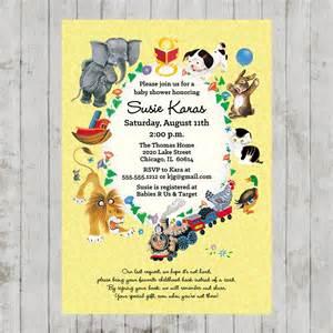little golden books baby shower invitation
