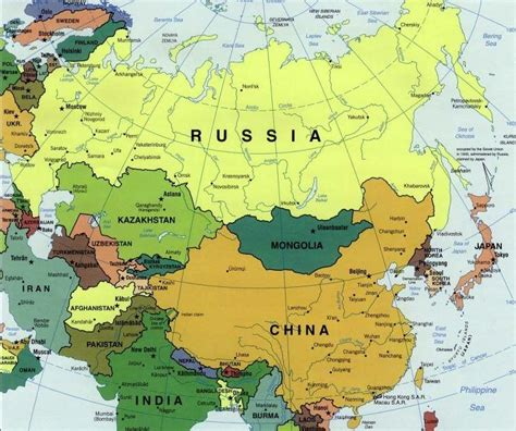 map of russia in europe and asia map of russia and europe russian federation outline map