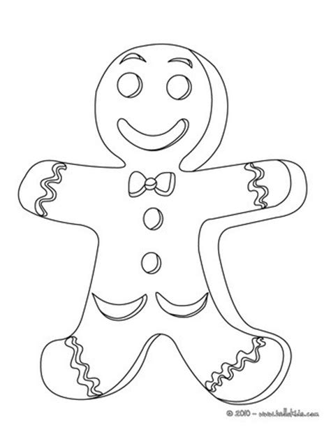 Decorated Gingerbread Man Coloring Pages Hellokids Com Gingerbread Cookie Coloring Page