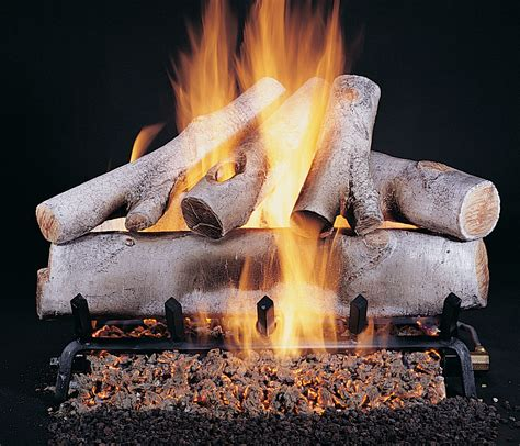 white birch gas fireplace logs all gas logs paykel