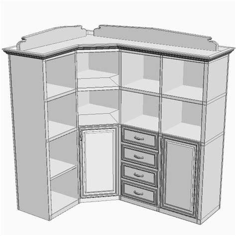 Corner Storage Cabinet Corner Storage Cabinet 3d Model Max 3ds Fbx Cgtrader