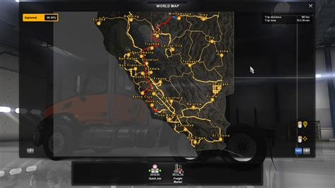 map usa truck simulator sattelite image background for the map american truck