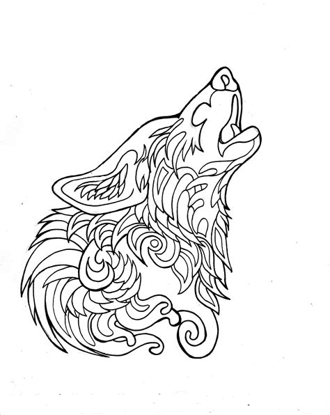 wolf mandala coloring page 332 free howling wolf page by lucky978 deviantart com on