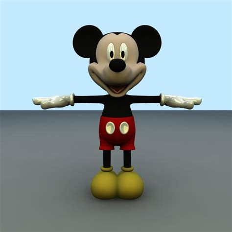 3d Mickey Mouse mickey mouse fbx