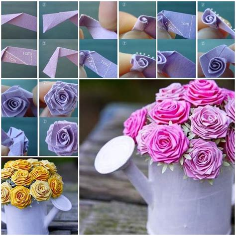 How To Make Paper Roses With Construction Paper - diy beautiful origami