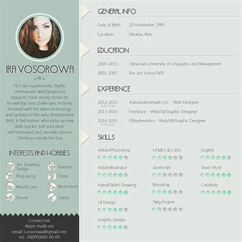 Free Resume Template Design by 10 Best Free Resume Cv Design Templates In Ai Mockup Psd Collection