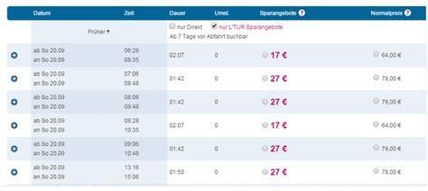 l tur deutsche bahn l tur bahn tickets restpl 228 tze ab 17 19