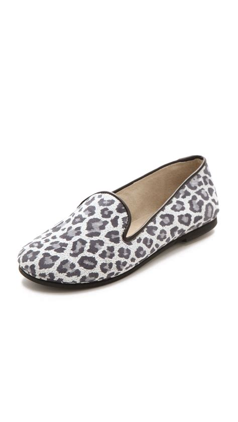 leopard loafers for sole fs ny printed snow leopard loafers in animal