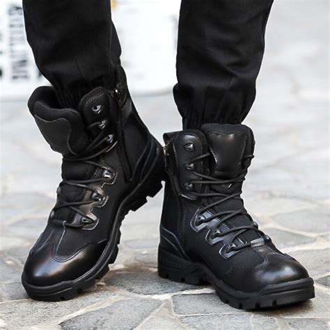 black combat boots for boot hto