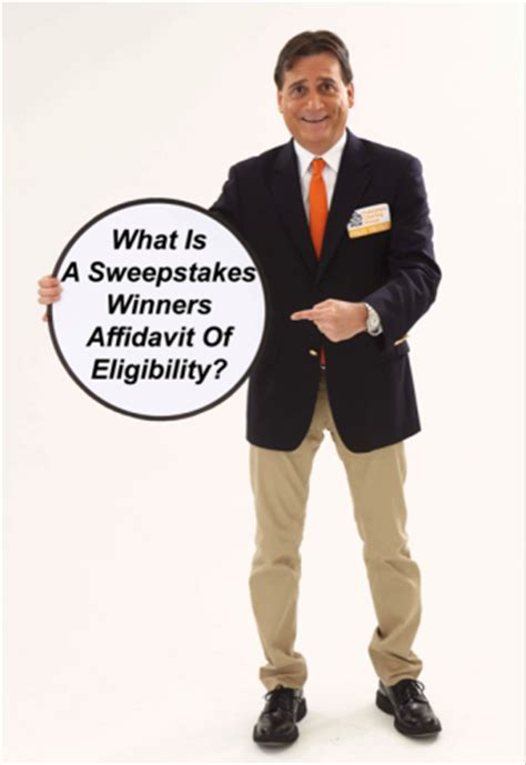 Sweepstakes Winners - what is a sweepstakes winners affidavit of eligibility pch blog