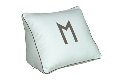 wedge pillow for reading in bed wedge pillow www leontinelinens com monogram it