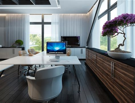 white walnut office furniture interior design ideas