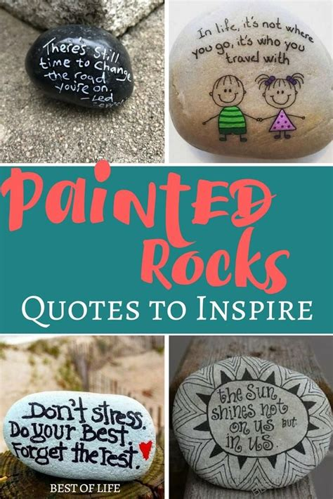 painted rocks quotes and rock ideas to inspire diy home