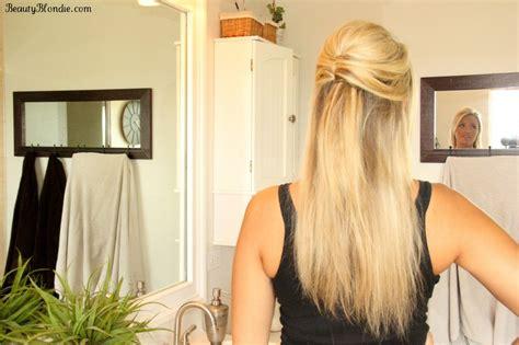 prom hairstyles half up half down straight half up half down upside down french twist hair tutorial