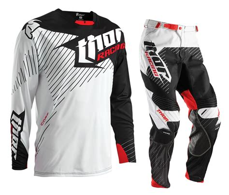 thor motocross gear thor new 2016 mx core hux white black red bmx mtb