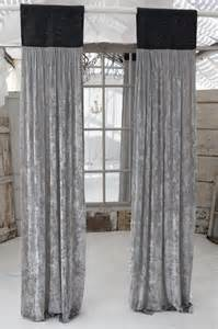 Grey Velvet Curtains Couture Dreams Platinum Velvet Slate Grey Jute Window Panel Curtains Other Metro