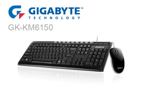 Keyboard Mouse Gigabyte Km 6150 gigabyte gk km6150 multimedia usb keyboard mouse