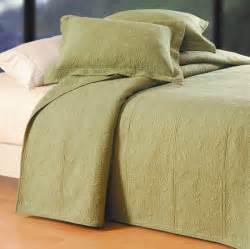 Sage Coverlet Solid Color Sage Quilt Bedding From C Amp F